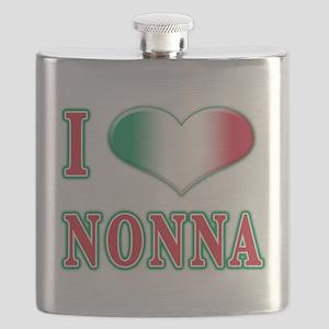 i Love Nonna A(white) Flask