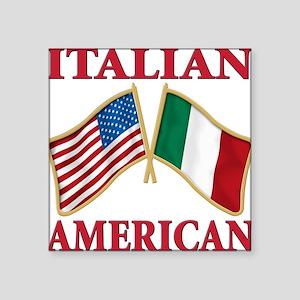 """Italian american(blk) Square Sticker 3"""" x 3"""""""