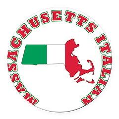 boston italian.png Round Car Magnet