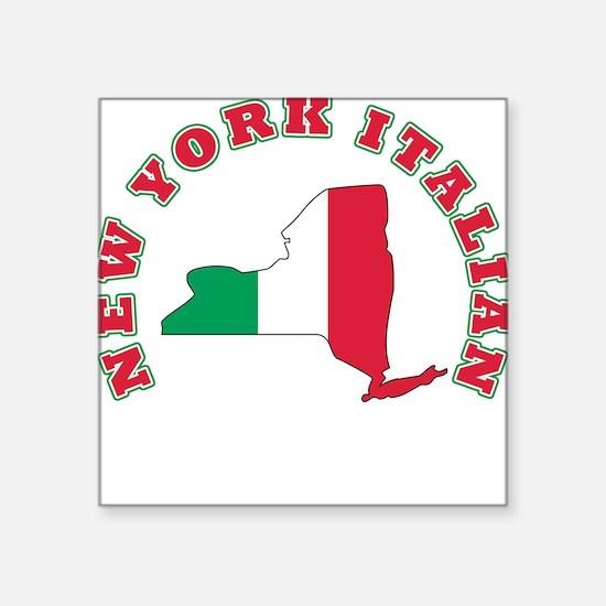 "3-new york italian.png Square Sticker 3"" x 3"""
