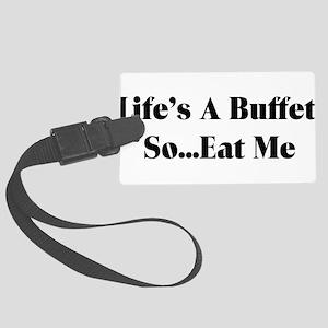 buffet01 Large Luggage Tag
