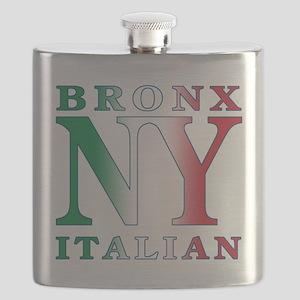 bronx italian.white Flask