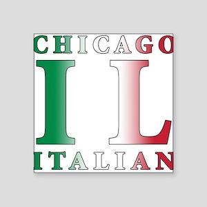 """chicago Italian Square Sticker 3"""" x 3"""""""