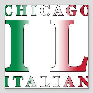 """chicago Italian Square Car Magnet 3"""" x 3"""""""