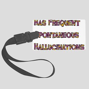 hallucinations01 Large Luggage Tag