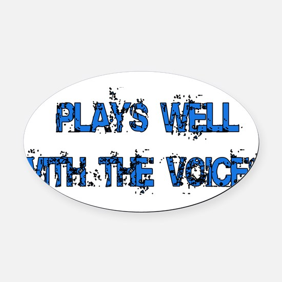 2_voices01.png Oval Car Magnet