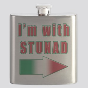 Italian Im with stunad arrow(white) Flask