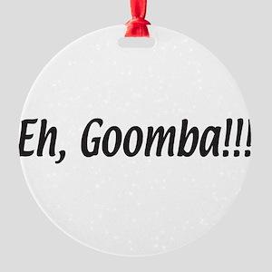 eh,goomba.white Round Ornament