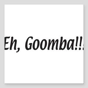 "eh,goomba.white Square Car Magnet 3"" x 3"""