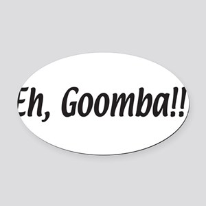 eh,goomba.white Oval Car Magnet