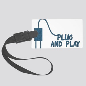 plug_and_play01 Large Luggage Tag