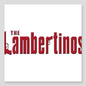 """LAMBERTINO Square Car Magnet 3"""" x 3"""""""