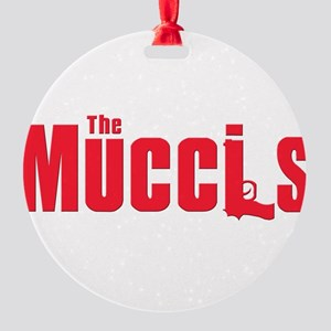 2-mucci(blk) Round Ornament