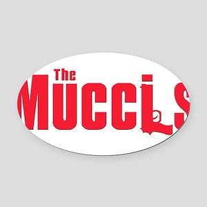 2-mucci(blk) Oval Car Magnet
