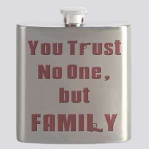 Trust no one but family(white) Flask