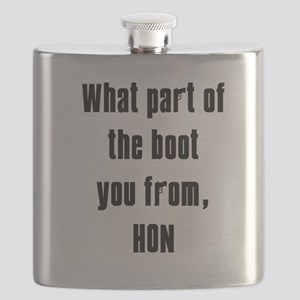 WHITE Boot Flask
