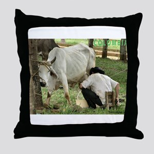 Campesino Colombiano Throw Pillow