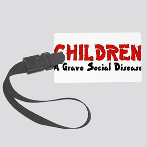 children_grave01 Large Luggage Tag