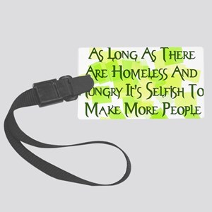 homeless_hungry01 Large Luggage Tag
