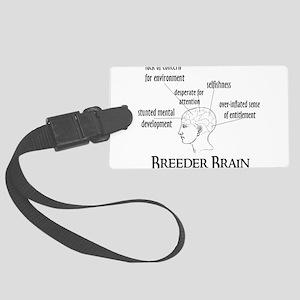 breeder_brain01 Large Luggage Tag