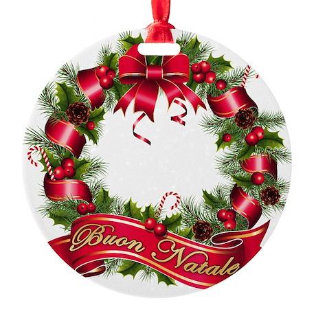 buon natale bb Round Ornament
