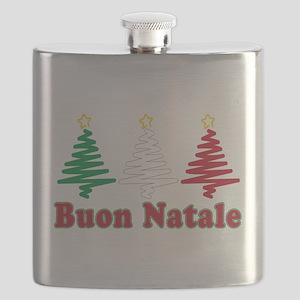 Buon Natale Flag Flask