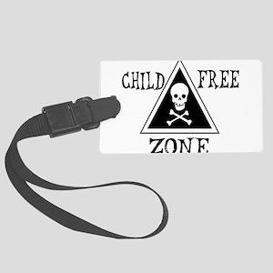 child_free_zone01 Large Luggage Tag