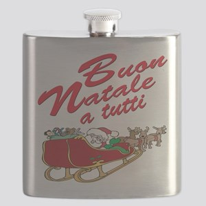 buon natale teddy bear(blk)1 Flask