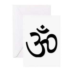 Om symbol greeting cards cafepress m4hsunfo