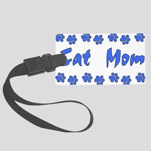 catmom01 Large Luggage Tag