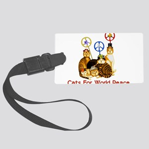 peacecats01 Large Luggage Tag