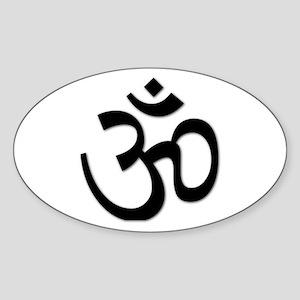 Yoga Icon Oval Sticker