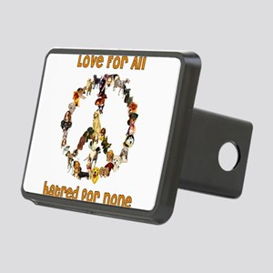 peacedogs01 Rectangular Hitch Cover
