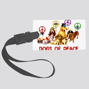 dogs_of_peace01 Large Luggage Tag
