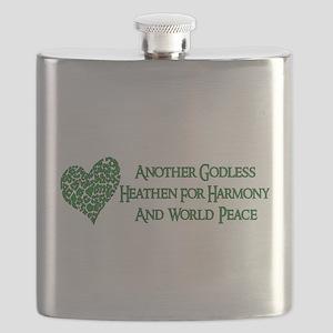Godless Heathen For Peace Flask