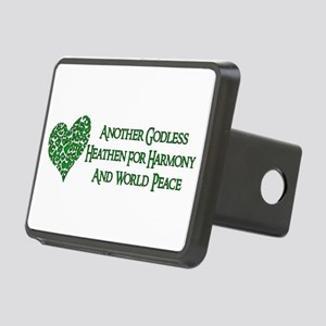 Godless Heathen For Peace Rectangular Hitch Cover