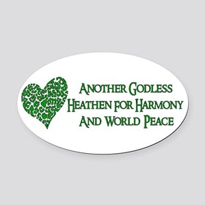 atheist03 Oval Car Magnet