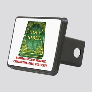 Bible Warning Rectangular Hitch Cover