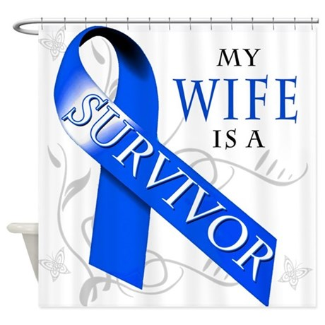 My Wife is a Survivor Shower Curtain