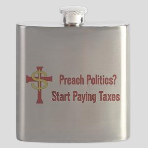 Tax The Churches Flask
