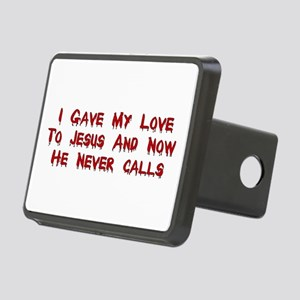 Jesus Doesn't Love Me Rectangular Hitch Cover