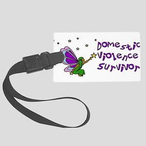 domestic_violence_survivor01 Large Luggage Tag