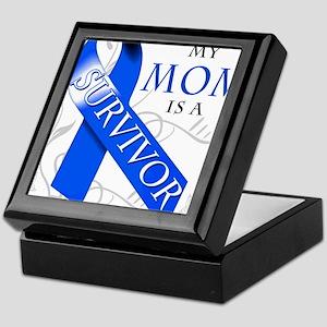 My Mom is a Survivor (blue) Keepsake Box