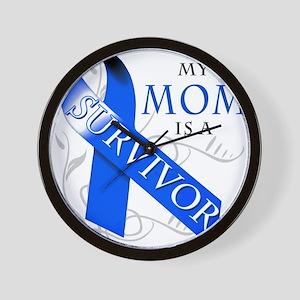 My Mom is a Survivor (blue) Wall Clock