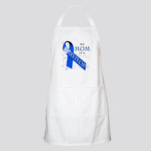 My Mom is a Survivor (blue) Apron