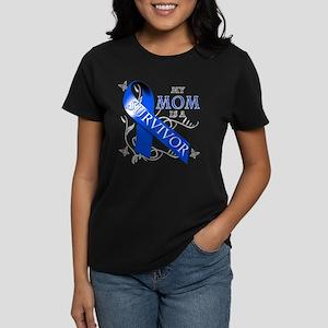 My Mom is a Survivor (blue) Women's Dark T-Shirt