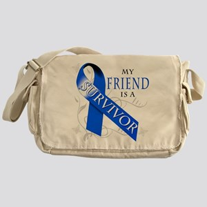 My Friend is a Survivor (blue) Messenger Bag