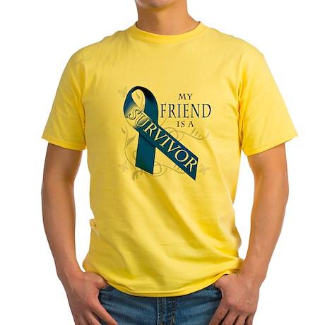 My Friend is a Survivor (blue) Yellow T-Shirt