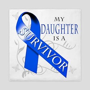 My Daughter is a Survivor (blue) Queen Duvet