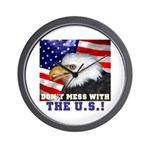 Don't Mess with the US! Wall Clock